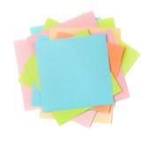Vue supérieure des papiers de note collants colorés Image stock