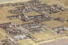 Vue supérieure des ruines antiques teotihuacan Mexico Images stock