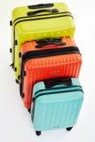 Vue supérieure des valises de voyageur Image libre de droits