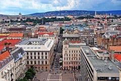 Vue supérieure du centre de la ville de Budapest Photos stock