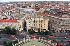 Vue supérieure du centre de la ville de Budapest Photo libre de droits