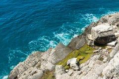 Vue supérieure du clapotis de mer Photo stock