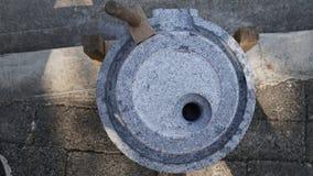 Vue supérieure du moulin en pierre Photos libres de droits