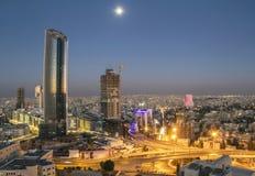Vue supérieure du nouveau centre ville d'Amman Photos stock