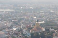 vue supérieure du paysage urbain en Thaïlande nakornsawan photos stock