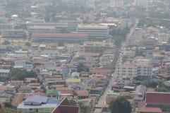 vue supérieure du paysage urbain en Thaïlande nakornsawan Image libre de droits