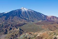 Vue supérieure du volcan Teide, parc national de Teide, Ténérife Image libre de droits