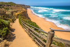 Vue supérieure Gibson Steps dans l'Australie Photo libre de droits