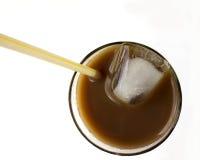 Vue supérieure glacée de café image libre de droits