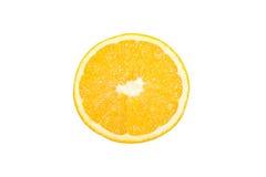 Vue supérieure orange découpée en tranches Photographie stock libre de droits