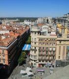 Vue supérieure panoramique de rue de Gran Via à Madrid photo libre de droits