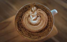 Vue sup?rieure de caf? de latte photos libres de droits
