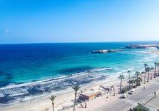 Vue superbe de la plage images libres de droits