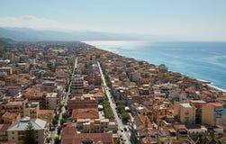 Vue supérieure de Palerme, Italie Images libres de droits