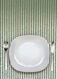 Vue supérieure de plat de dîner Photo stock