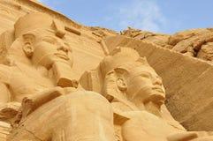 Vue sur Abu Simbel célèbre en Egypte Image libre de droits