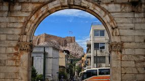 Vue sur Akropolis Photo stock