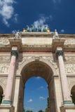 Vue sur Arc de Triomphe à Paris france Photo stock