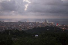 Vue sur Batumi, la Géorgie au crépuscule Photo stock