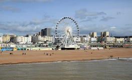 Vue sur Brighton Wheel de Brighton Pier, Birghton, Angleterre, R-U photos stock