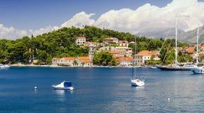 Vue sur Cavtat en Dalmatie du sud, Croatie Image stock