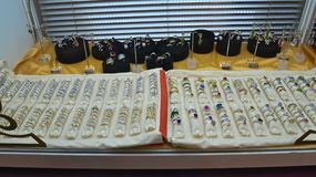 Vue sur de divers anneaux à l'expo juste à Novi Sad, Serbie photographie stock libre de droits