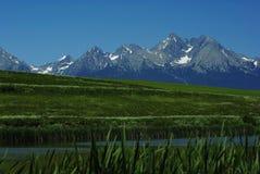 Vue sur des crêtes de Tatras Photo libre de droits