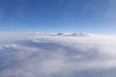 Vue sur des nuages photos libres de droits