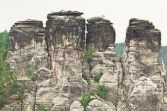 Vue sur des roches Image libre de droits