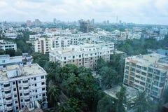 Vue sur Dhaka - Gulshan Circle 2 de l'hôtel de Westin Image stock