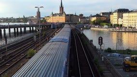 Vue sur Gamla Stan à Stockholm Vieille ville sweden banque de vidéos