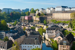 Vue sur Grund, Luxembourg Images stock
