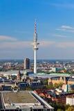 Vue sur Hambourg, tour de radiodiffusion photos stock