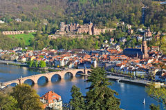 Vue sur Heidelberg photo libre de droits