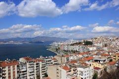 Vue sur Izmir de tour d'Asansor Photographie stock libre de droits