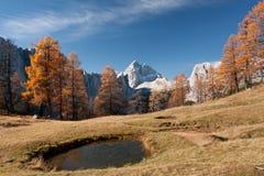 Vue sur Jalovec Images libres de droits
