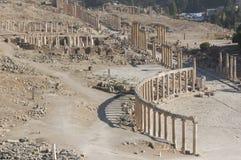 Vue sur Jerash Image stock