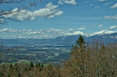 Vue sur Julian Alps Images libres de droits