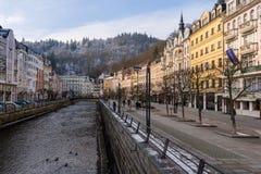 Vue sur Karlovy Vary, la République Tchèque photo stock