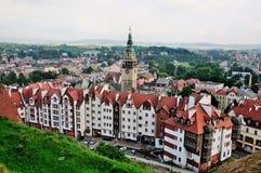 Vue sur Klodzko de la forteresse images libres de droits