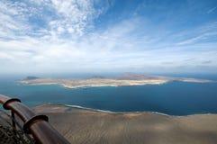 Vue sur l'île de Graciosa de La photographie stock