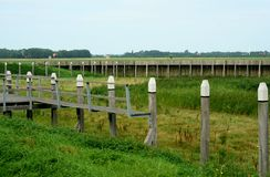 Vue sur l'ancien port de Schokland photos libres de droits