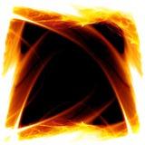 Vue sur l'incendie illustration de vecteur