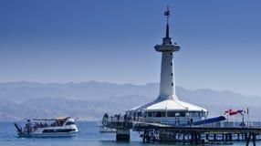 Vue sur l'observatoire sous-marin, Eilat Photo libre de droits