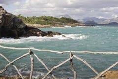 Vue sur la baie près de la fève l'Aire Majorca Image libre de droits