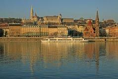 Vue sur la banque de Buda de Budapest, Hongrie Photo libre de droits