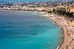 Vue sur la côte azurée à Nice, France Image libre de droits