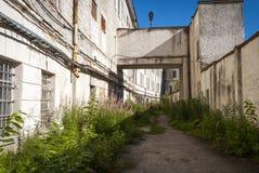 Vue sur la cour de prison de Patarei, Tallinn Photo stock