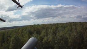 Vue sur la forêt de l'hélicoptère banque de vidéos