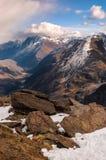 Vue sur la gorge de Baksan Photos stock